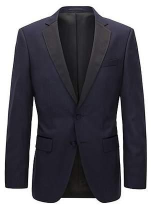 HUGO BOSS Slim-fit virgin wool jacket with silk details