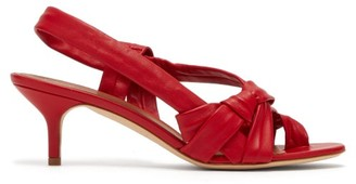 Malone Souliers Wylie Cross Strap Slingback Leather Sandals - Womens - Red