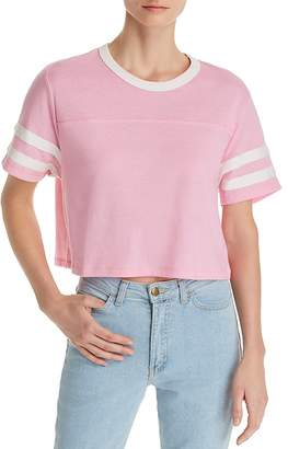 Alternative Striped-Sleeve Cropped Tee - 100% Exclusive