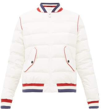 Perfect Moment Down Filled Quilted Bomber Jacket - Womens - White
