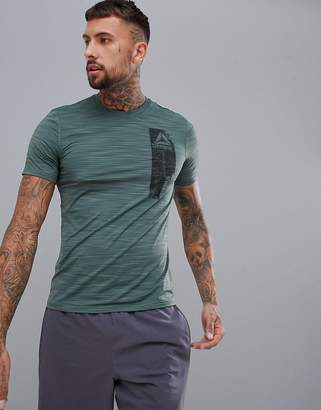 Reebok Training Work Out Ready Graphic T-Shirt In Green CY3605