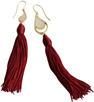 c7329ab32bfab6 Dee By Diana Gold Sea & Sand Red Tassels Earrings