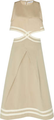 J.W.Anderson Sleeveless Twill Cutout Dress