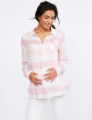 16d74d3f58818 Rails Plaid Button Front Maternity Top