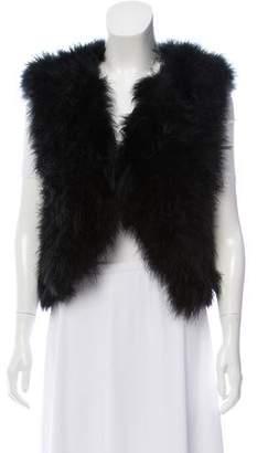 Adrienne Landau Faux Fur Vest