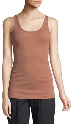 Vince Ribbed Cotton Scoop-Neck Tank