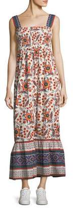 Joie Chisuzu Sleeveless Multi-Printed Cotton Maxi Dress