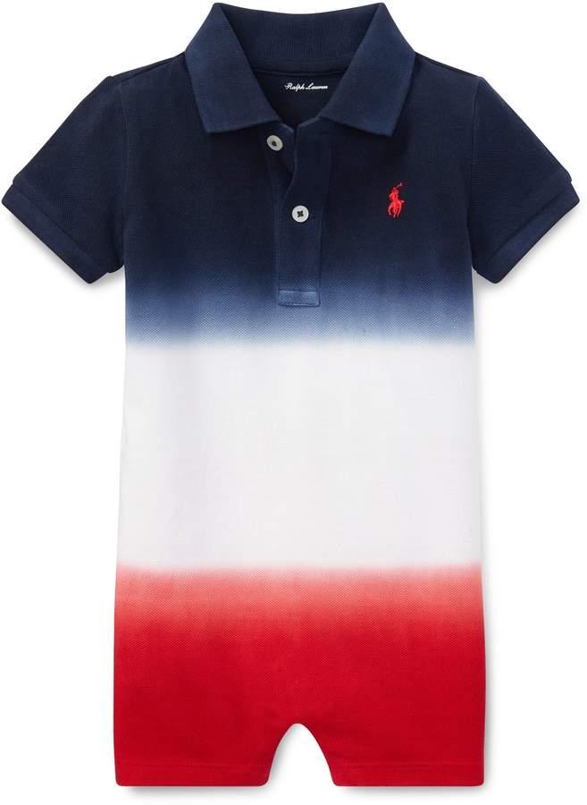 Dip-Dyed Cotton Polo Shortall