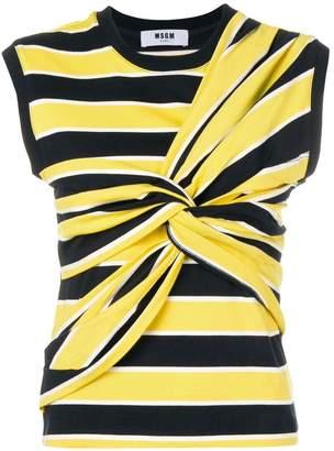 MSGM striped sleeveless top