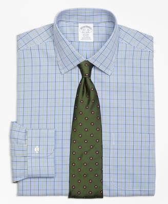 Brooks Brothers Regent Fitted Dress Shirt, Non-Iron Gingham Overcheck