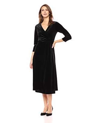 Black Velvet Wrap Dress Shopstyle