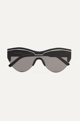 Balenciaga Ski Cat-eye Acetate Sunglasses - Black