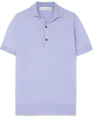 Victoria Beckham Wool Polo Shirt - Lilac