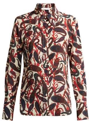 Chloé Paisley Print Silk Blouse - Womens - White Multi