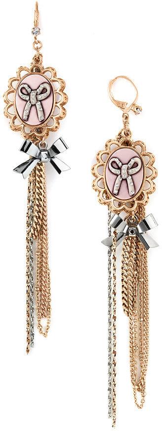 Betsey Johnson Long Drape Earrings