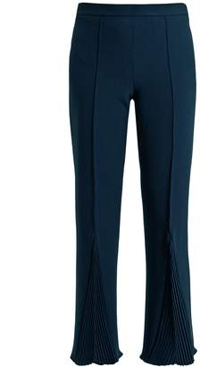 Marco De Vincenzo Pleated crepe cropped trousers