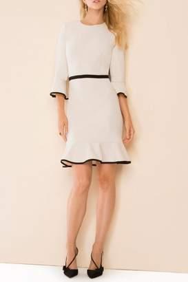 Donna Morgan Flounced Shift Dress