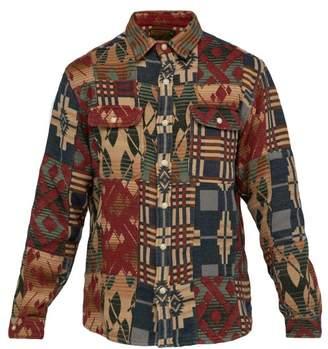 Rrl - Patchwork Brushed Cotton Jacquard Shirt Jacket - Mens - Multi
