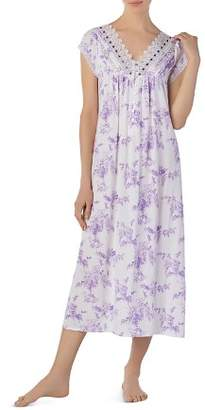 Eileen West Long V-Neck Cotton Nightgown