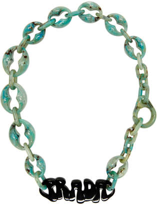 Prada Green Logo Chunky Necklace