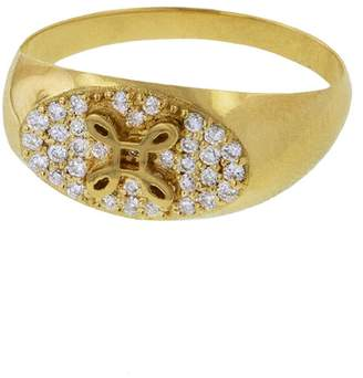 Foundrae True Love Diamond Signet Ring
