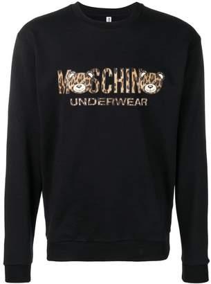 Moschino leopard logo sweatshirt