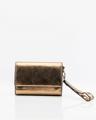 Le Château Metallic Faux Leather Clutch