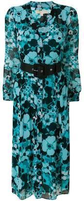 MICHAEL Michael Kors belted floral-print midi dress
