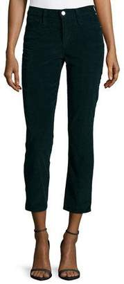 FRAME Le High Straight-Leg Cropped Corduroy Pants, Spruce $185 thestylecure.com