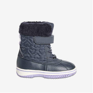 Joe Fresh Toddler Girls' Quilted Snow Boots, Navy (Size 10)