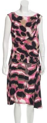 Diane von Furstenberg Silk Printed Sleeveless Midi Dress