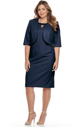 938ff12d2da1b at Kohl s · Le Bos Plus Size Beaded Dress   Jacket Set