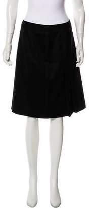 Brooks Brothers Pleated Wool Skirt
