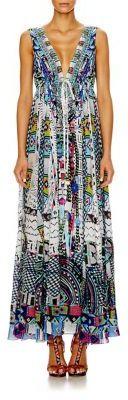 Camilla Silk Crepe Drawstring Maxi Dress $800 thestylecure.com
