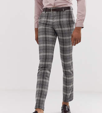 82137de5 Twisted Tailor tall super skinny smart trousers in grey bold check