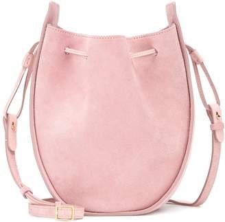 The Row Drawstring suede shoulder bag