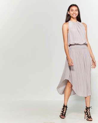 Ramy Brook Stone Audrey Blouson Midi Dress