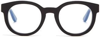 Saint Laurent Monogram round-frame acetate glasses