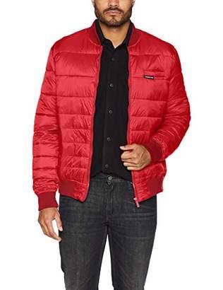 Members Only Men's Down Blend Varsity Puffer Jacket