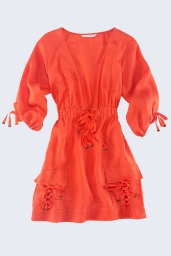 Zuza Cover-Up in Hot Coral or Navy