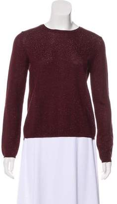 Prada Metallic Herringbone Sweater