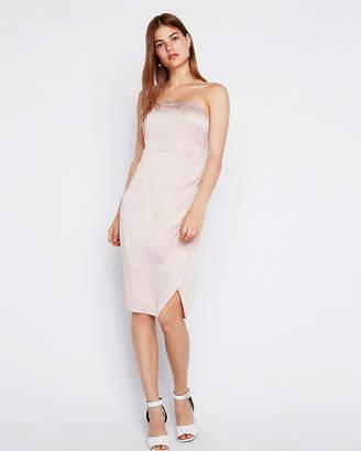 Express Shimmer Strapless Dress