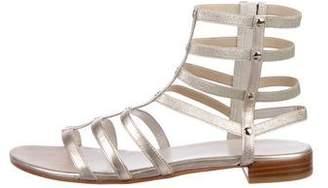 Stuart Weitzman Metallic Gladiator Sandals