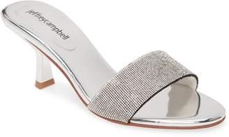 Jeffrey Campbell Glitzed Crystal Slip-On Sandal