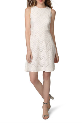 Donna Morgan Chevron Lace Fit & Flare Dress $148 thestylecure.com