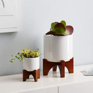 west elm Mid-Century Turned Leg Tabletop Planters