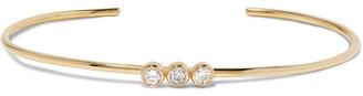 Jennifer Meyer - 18-karat Gold Diamond Cuff - one size $2,500 thestylecure.com