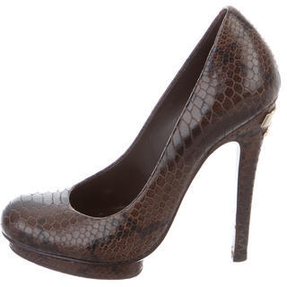 Tory BurchTory Burch Embossed Round-Toe Pumps
