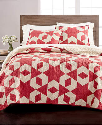 Martha Stewart Collection Geometric Stars King Quilt