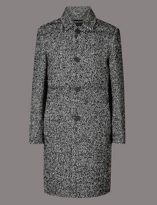 AutographMarks and Spencer Wool Blend Overcoat